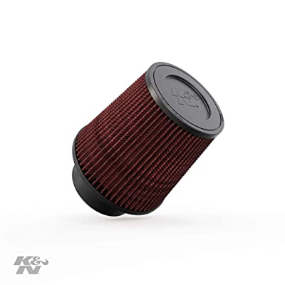 K&N Universal Clamp-On Air Filter: High Performance, Premium, Washable, Replacement Filter: Flange Diameter: 3.5 In, Filter Height: 6 In, Flange Length: 1.75 In, Shape: Round Tapered, RE-0950: Automotive