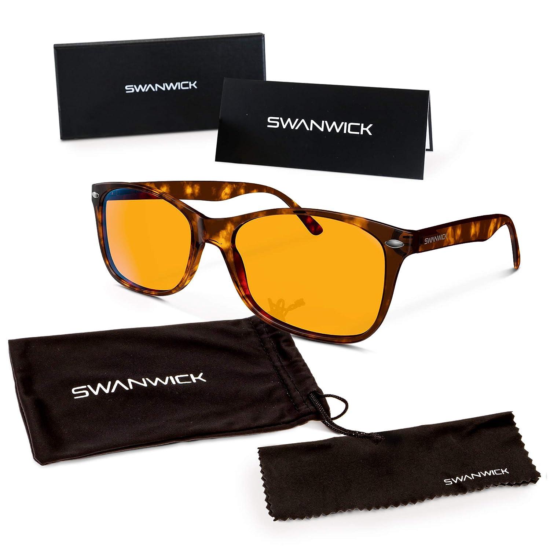 a9028dfb98e Blue Light Blocking Glasses – Swannies Gamer and Computer Eyewear for Deep  Sleep - Digital Eye Strain Prevention - FDA Registered Company - Swanwick  Sleep