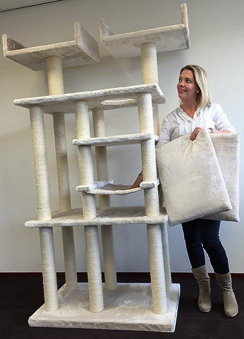 Cat Árbol Rascador de Elite de crema gato blanco del Palacio de gato arañar poste Centro