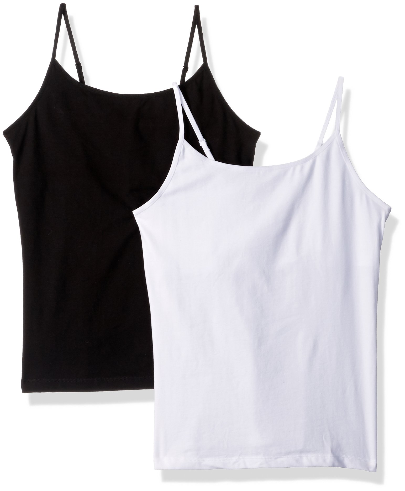 The Children's Place Girls' Toddler Cami, White 83433 (Pack of 2), XXL(16)