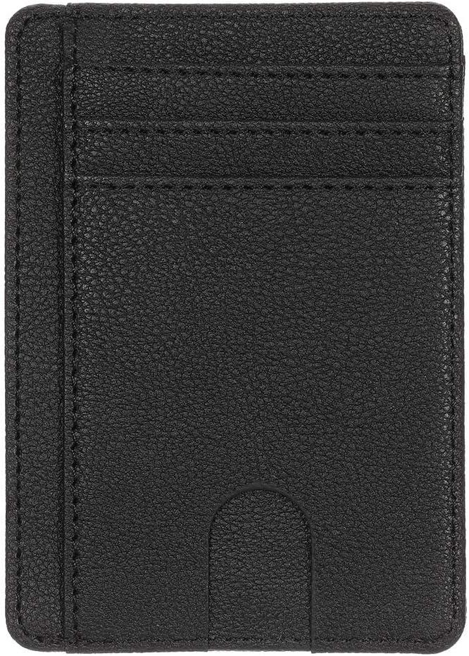 Id/éal Cadeau Homme Femme SUSSURRO Porte Carte de Cr/édit en Cuir RFID Blocage Porte-Monnaie Rangement Carte de Cr/édit et Billets