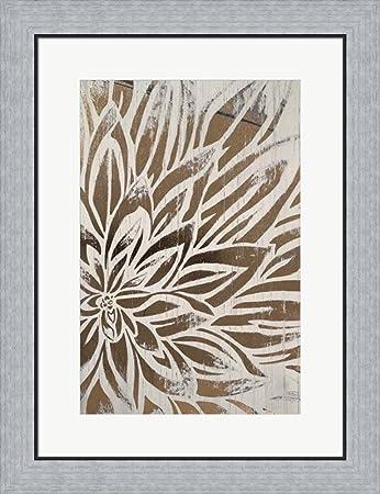 Barnwood bloom ii metallic foil by june erica vess framed art print wall picture