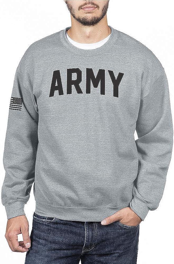 Elite Fan Shop Military Crewneck Sweatshirt Gray