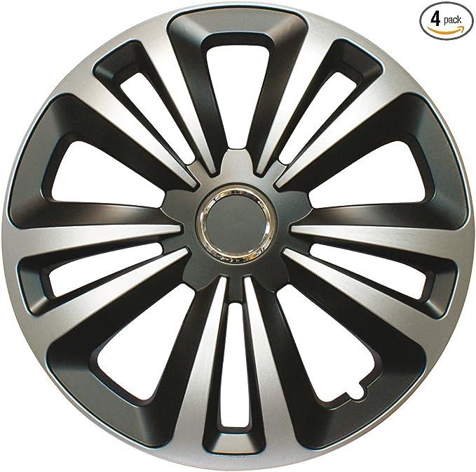 15 Set of 4 Cora 41845/4/Universal Aluminium-Effect Fox Mix Wheel Trims
