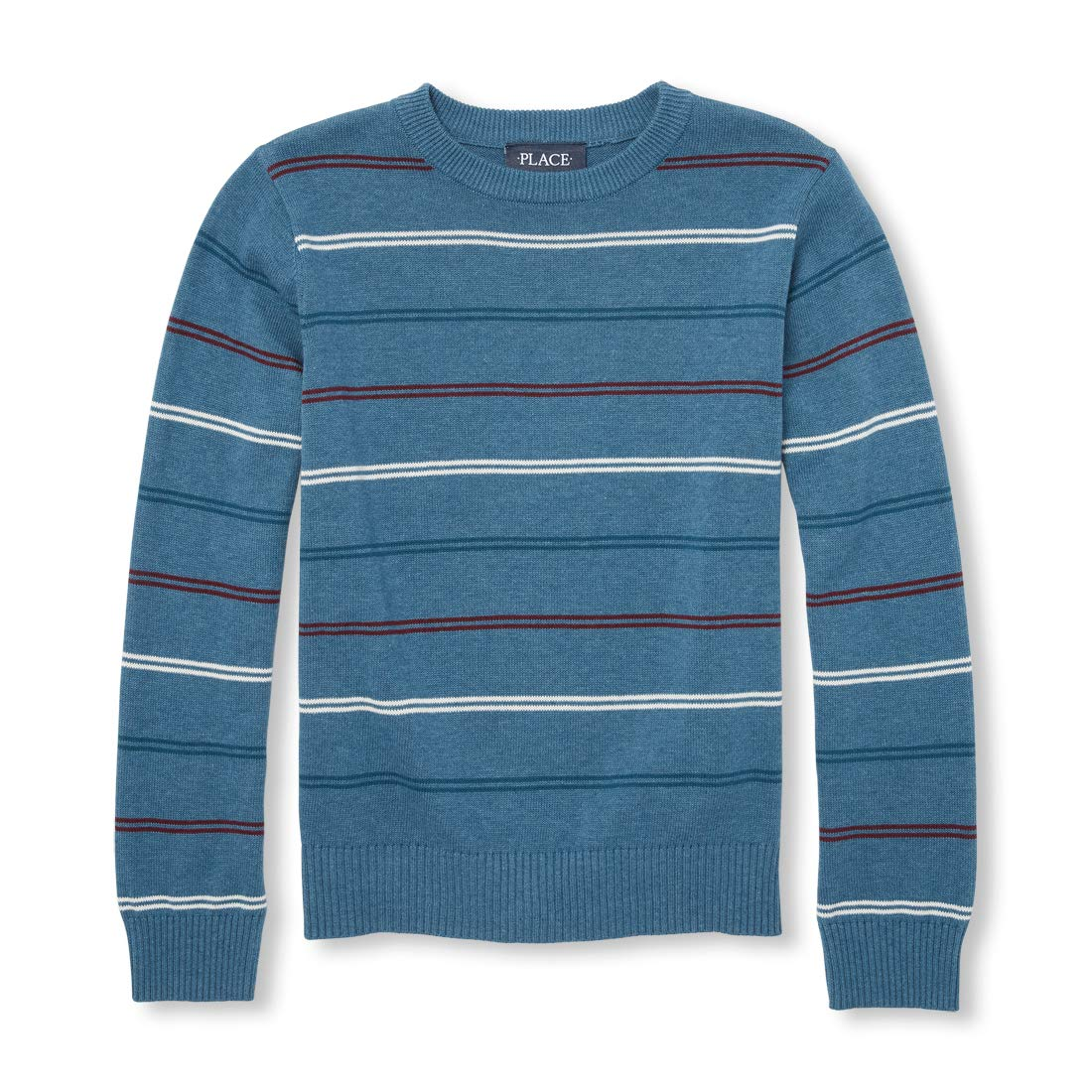 The Children's Place Big Boys' Stripe Crew Sweater 2055399