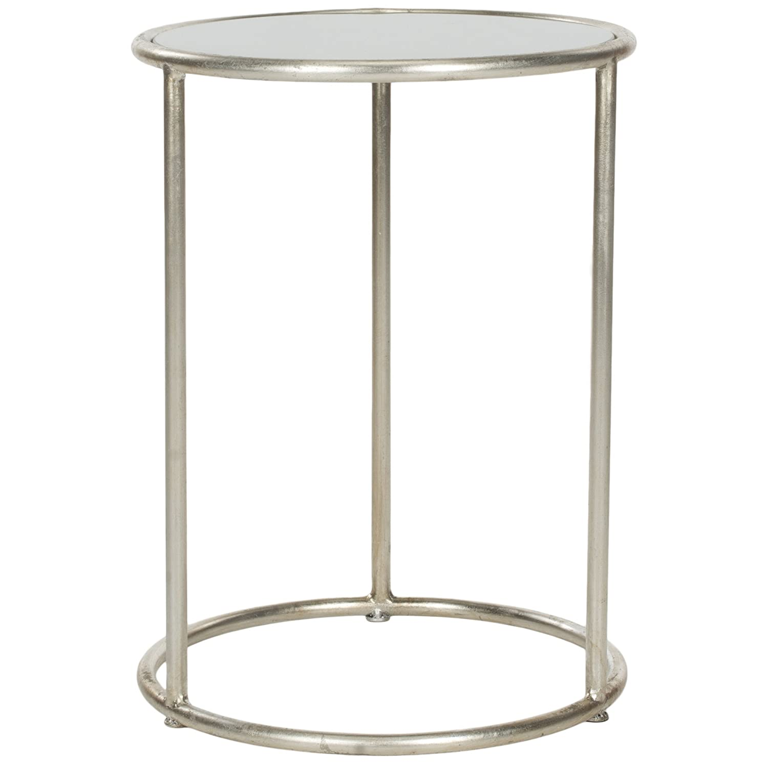 Amazon.com: Safavieh Home Collection Shay Silver Accent Table: Kitchen U0026  Dining