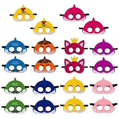 Christmas Birthday Party Ideas For Toddlers.20pcs Little Shark Mask Children S Birthday Party Family Party Cute Cartoon Soft Graduation Gift Boys Girls Parties Supplies Multicolor
