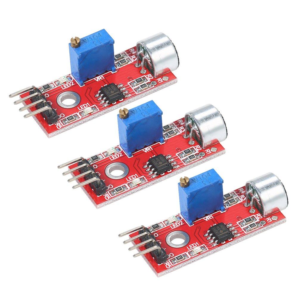Walmeck 3pcs Microphone Sound Sensor Module Voice Sensor Detection Module For Arduino