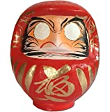 """Daruma doll (Dharma doll), Size No.1-1/2, Japanese traditional figurines that bring luck, Handmade by japan's top meister, Paper-mache, 5.7""""H"""