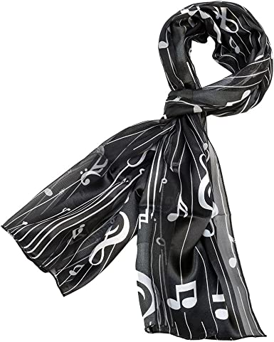 Music note Choirs scarf for Girls Women Large Light Weight Scarves Scarf