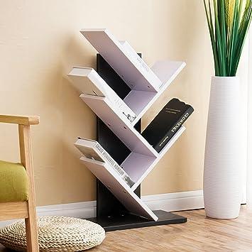 Bookshelf Shelf Floor Bookcase Living Room Combination Shelving Tree Shaped Childrens Bedroom Decoration Frame