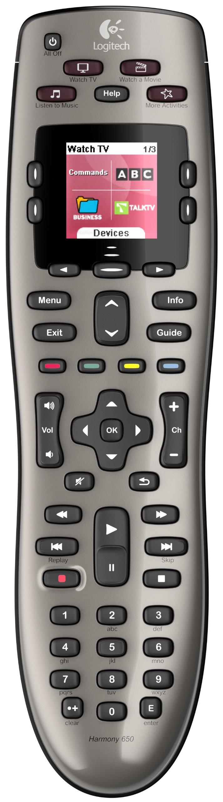 Logitech Harmony 650 Remote (Silver)