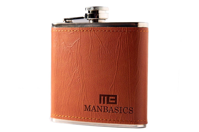 【数量は多】 manbasics Gifts for Guys – Gifts レザーフラスコfor Men – – manbasics ステンレススチール6オンス酒フラスコ B07F3DZCG9, マツサカシ:4ff524aa --- a0267596.xsph.ru