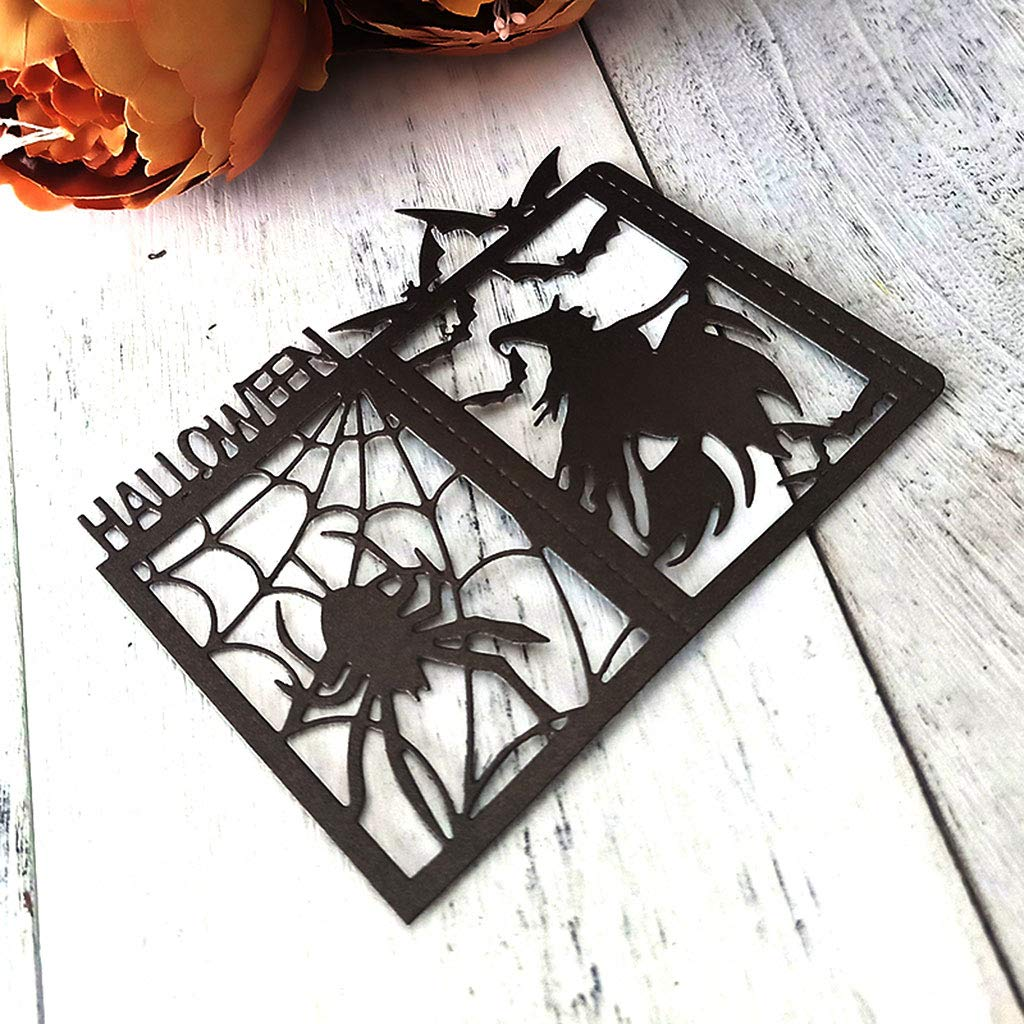 RITER Die Cuts for Card Making,Halloween Witch Metal Die Cutting Stencil DIY Scrapbooking Album Stamp Paper Card Embossing Crafts Decor