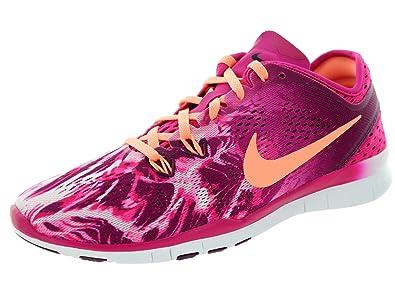 info for 9b4f5 e6a27 Nike WMNS Free 5.0 TR FIT 5 PRT Chaussures de Course Running Femme Rose  T 40 1 2  Amazon.fr  Vêtements et accessoires