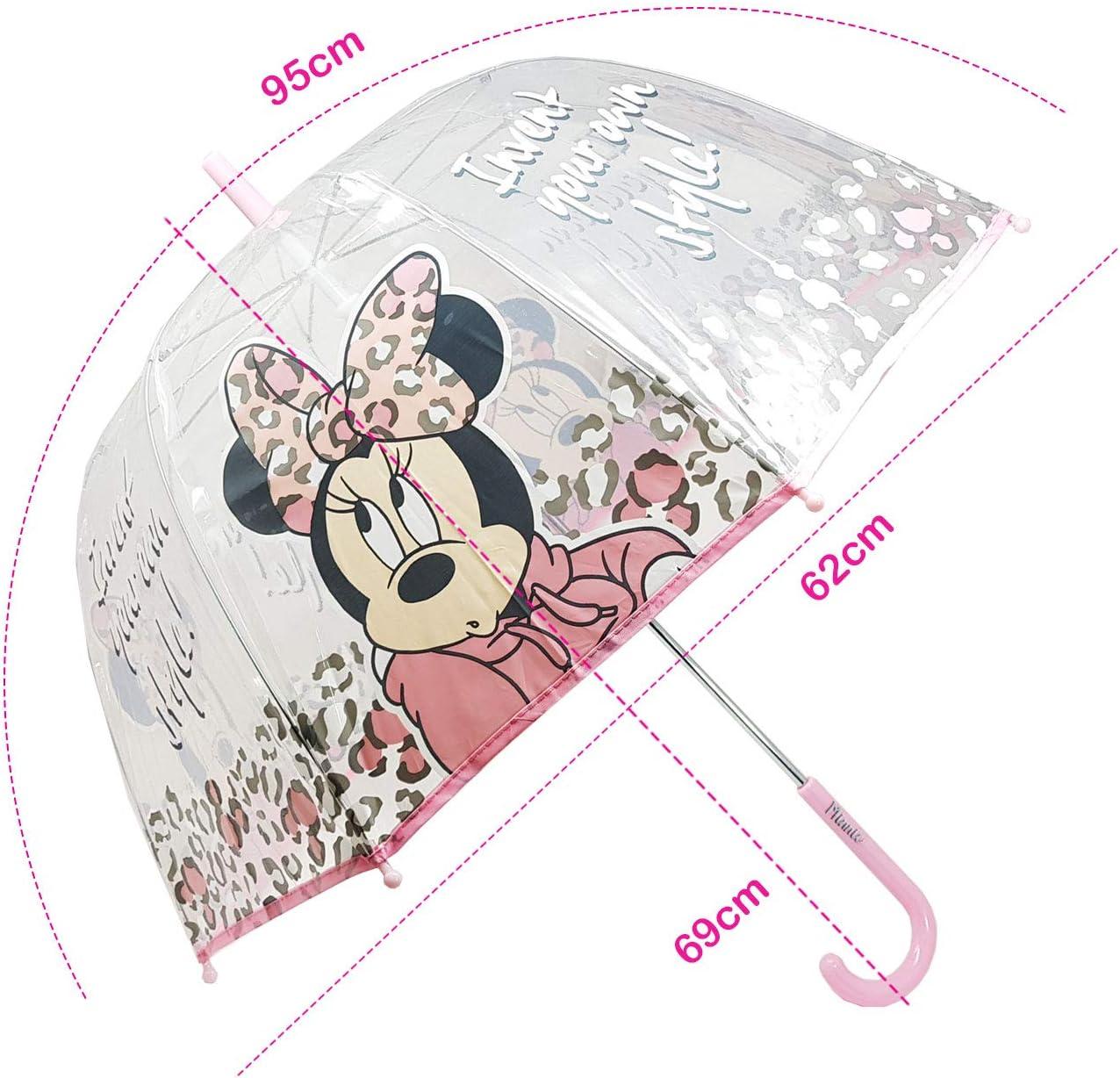 Parapluie Transparent Manuel Parapluie Enfant Fille Parapluie Minnie Fashion 62 cm Gris - WD12840 Gris