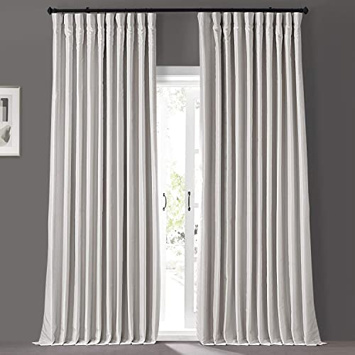 HPD Half Price Drapes PDCH-KBS1BO-108-DW Blackout Extra Wide Vintage Textured Faux Dupioni Curtain 1 Panel