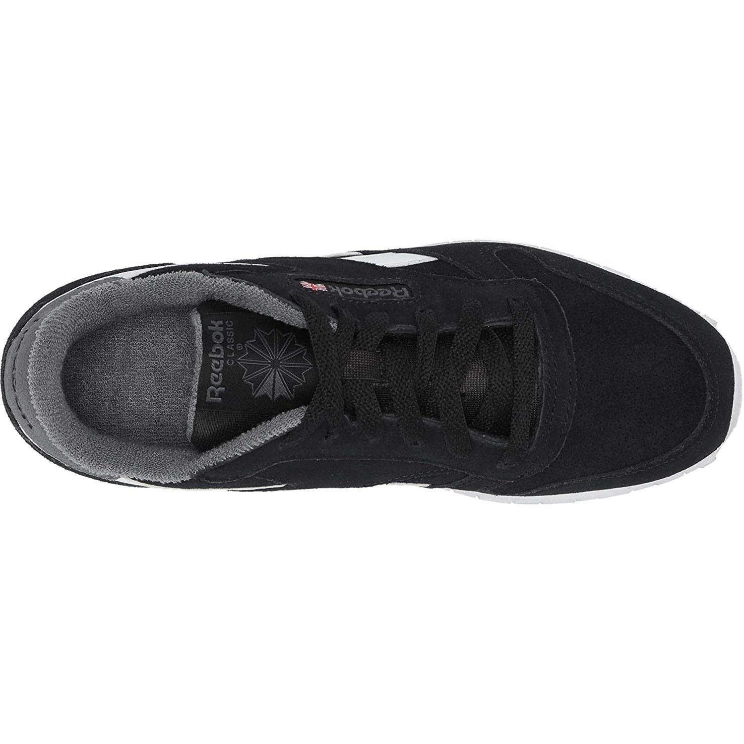 d43e3d7c0bbf Reebok Classic Leather Black True Grey Suede Youth Trainers Shoes  Amazon.co .uk  Shoes   Bags