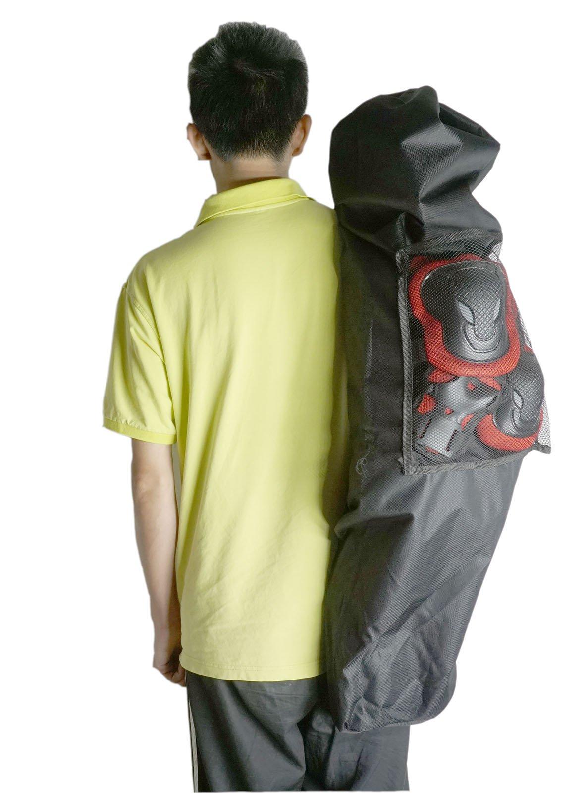 Cooplay Professional 41 inch Longboard Skateboard Carry Bag Big Handy Backpack Handbag Rollerboard Long Board Ourdoor Sport 95cm - 105cm with Big Mesh by Cooplay