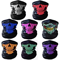 GAMPRO Universal Breathable Seamless Tube Skull Face Mask, Dust-proof Motorcycle Bicycle Bike Face Mask for Cycling, Hiking, Camping, Climbing, Fishing, Hunting, Jogging, Motorcycling