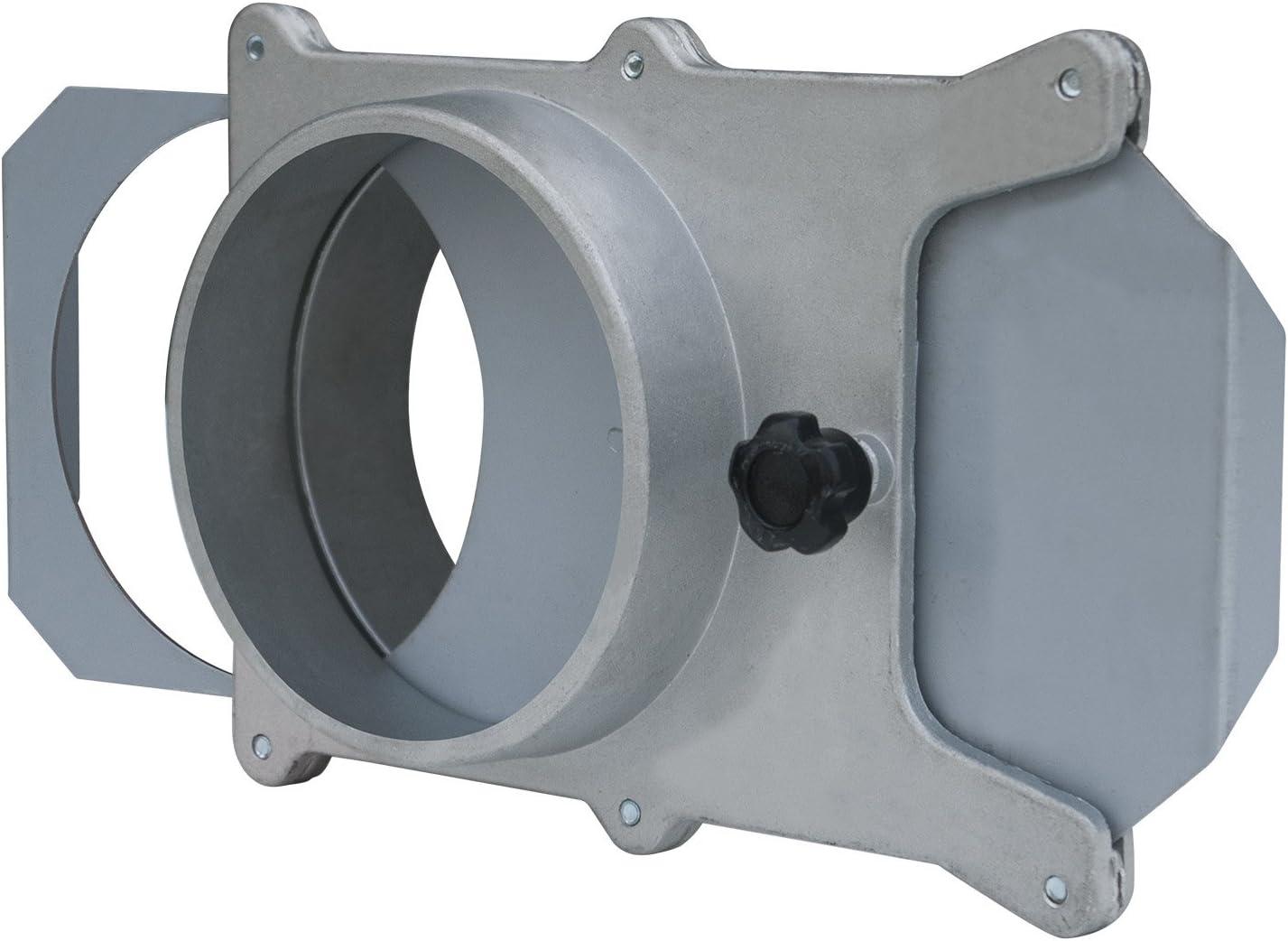 POWERTEC 70135 4-Inch Aluminum Blast Gate for Dust Collector/Vacuum Fittings