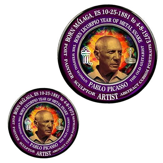 Amazon com: Pablo Picasso Magnet + Pin, Astrology Libra Scorpio Cusp