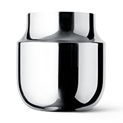 Menu 4730059 Tactile Vase breit, Höhe 18 cm, Durchmesser 17 cm, edelstahl