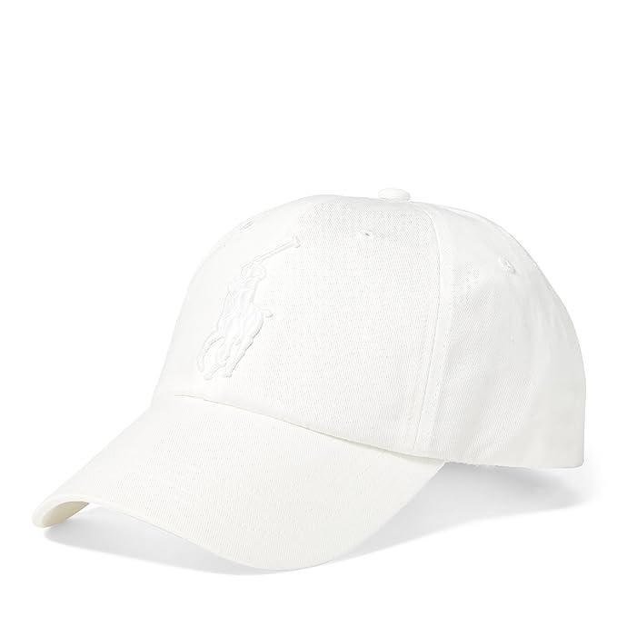 Ralph Lauren - Gorra de béisbol - Big Pony - Blanco Sobre Blanco: Amazon.es: Ropa y accesorios