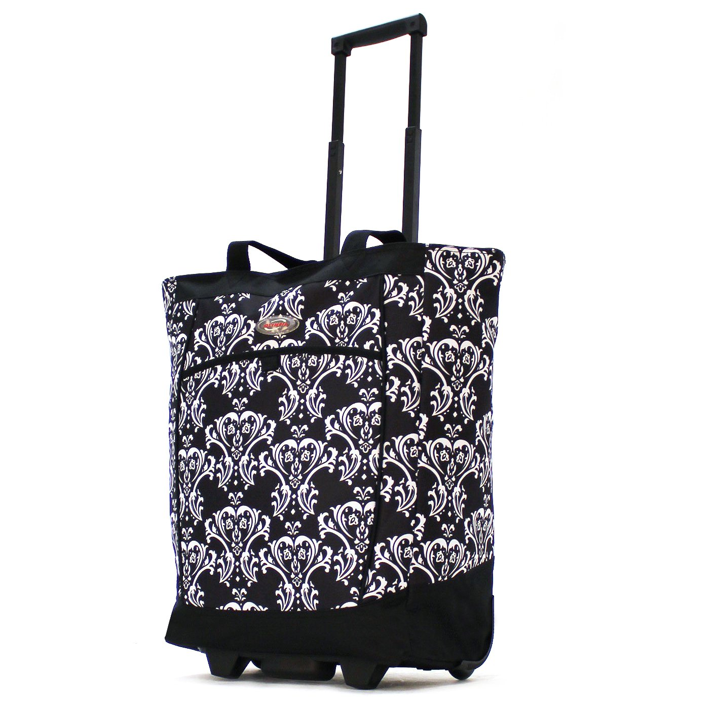 Olympia Fashion Rolling Shopper Tote - Damask Black, 2300 cu. in. by Olympia