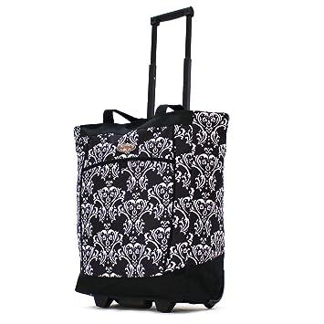c682edf22 Amazon.com: Olympia Fashion Rolling Shopper Tote - Damask Black, 2300 cu.  in.