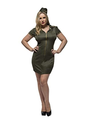 927f0e455eb Amazon.com  Smiffy s Fever Women s Plus Size Army Costume  Clothing