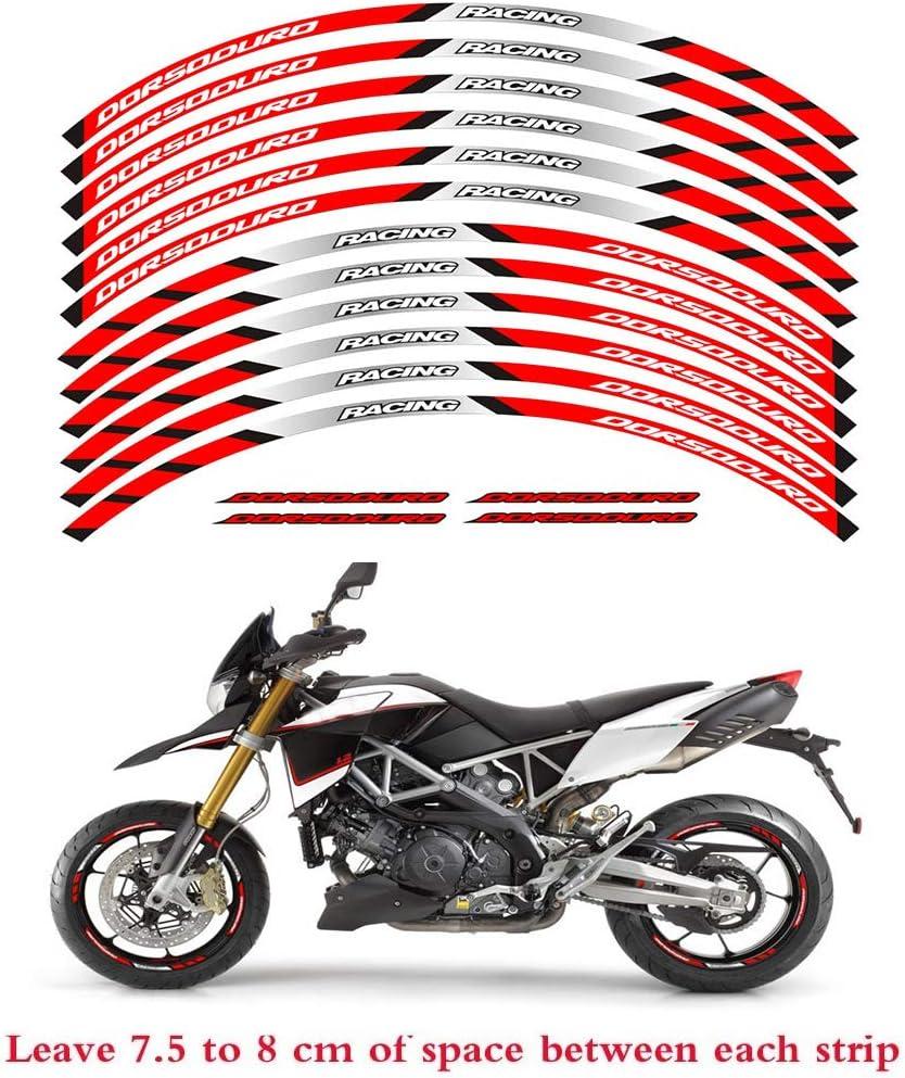 psler Motorrad Felgenrandaufkleber Rim Stripes Aufkleber F/ür Aprilia RSV4