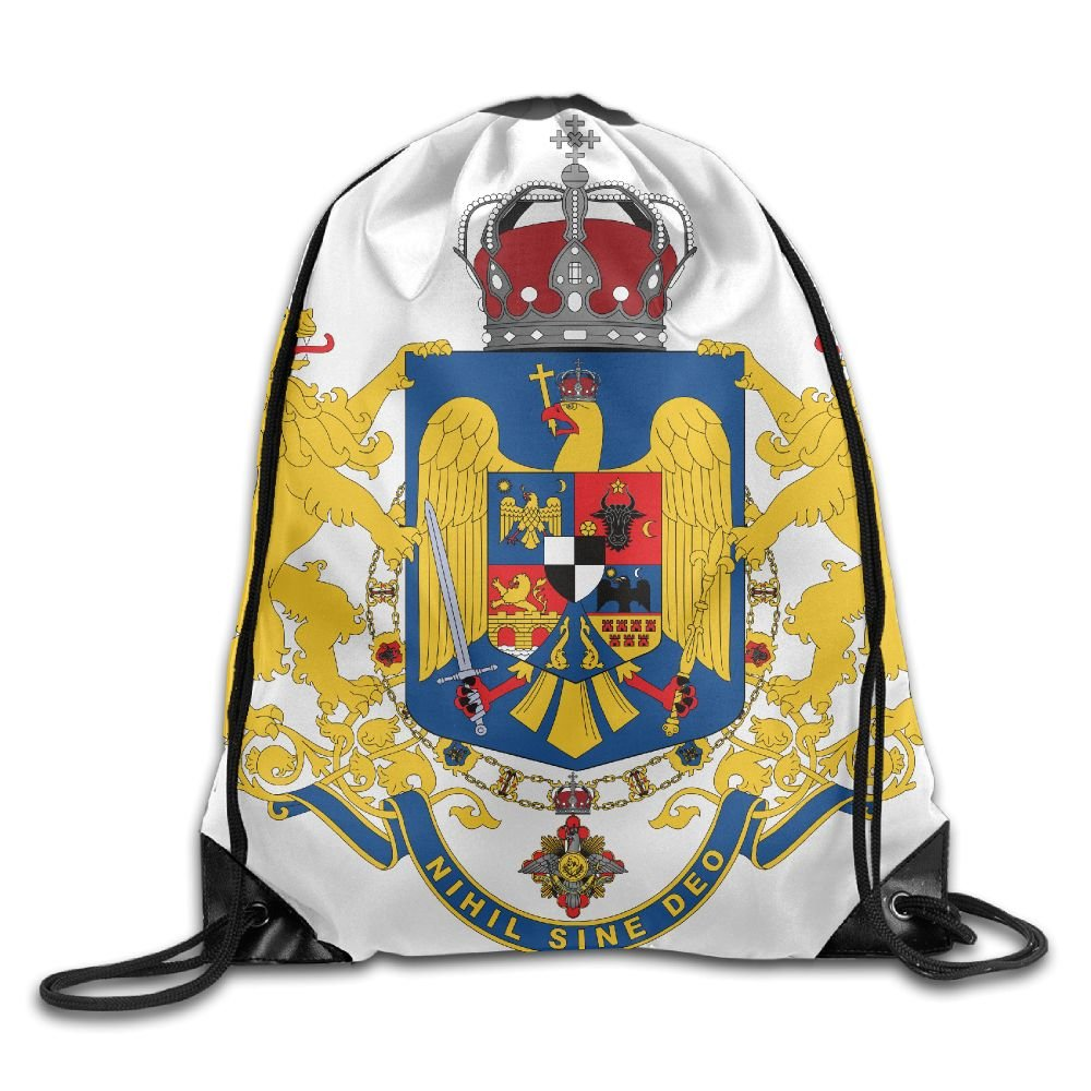 HIFUN Romania Coat Of Arms Unisex Home Gym Sack Bag Travel Drawstring Backpack Bag by HIFUN (Image #1)