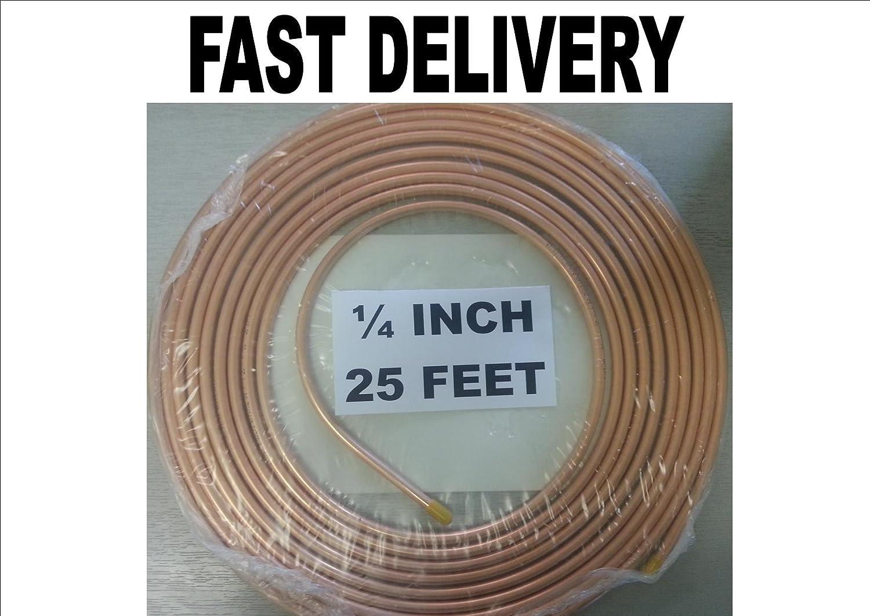 1/4 pulgadas Cobre * * Tubo de Freno de combustible * * 25 pies papel QX COMPONENTS