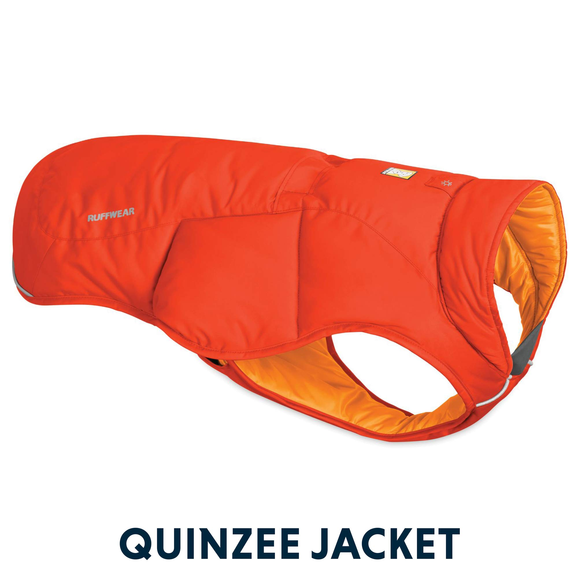 RUFFWEAR - Quinzee Insulated, Water Resistant Jacket for Dogs with Stuff Sack, Sockeye Red, Medium by RUFFWEAR