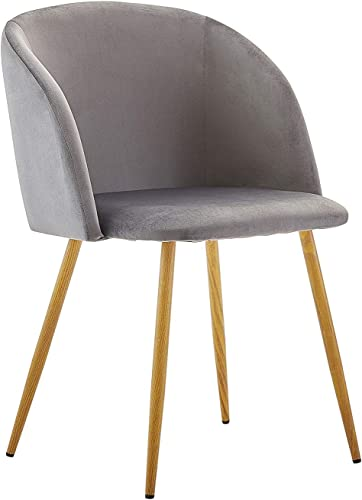 Dorafair Upholstered Dining Chairs Velvet Armchair Mid Century Modern Chairs Living Room Chair Makeup Chair Side Chair