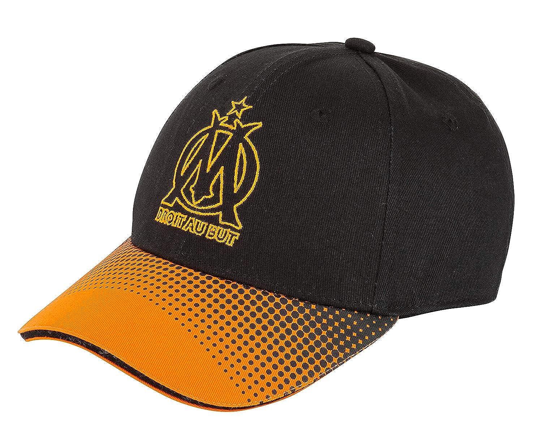 Nouveau MODELE Casquette Orange ET Noire Saison 2019-2020 Taille Adulte REGLABLE Licence Officielle Om