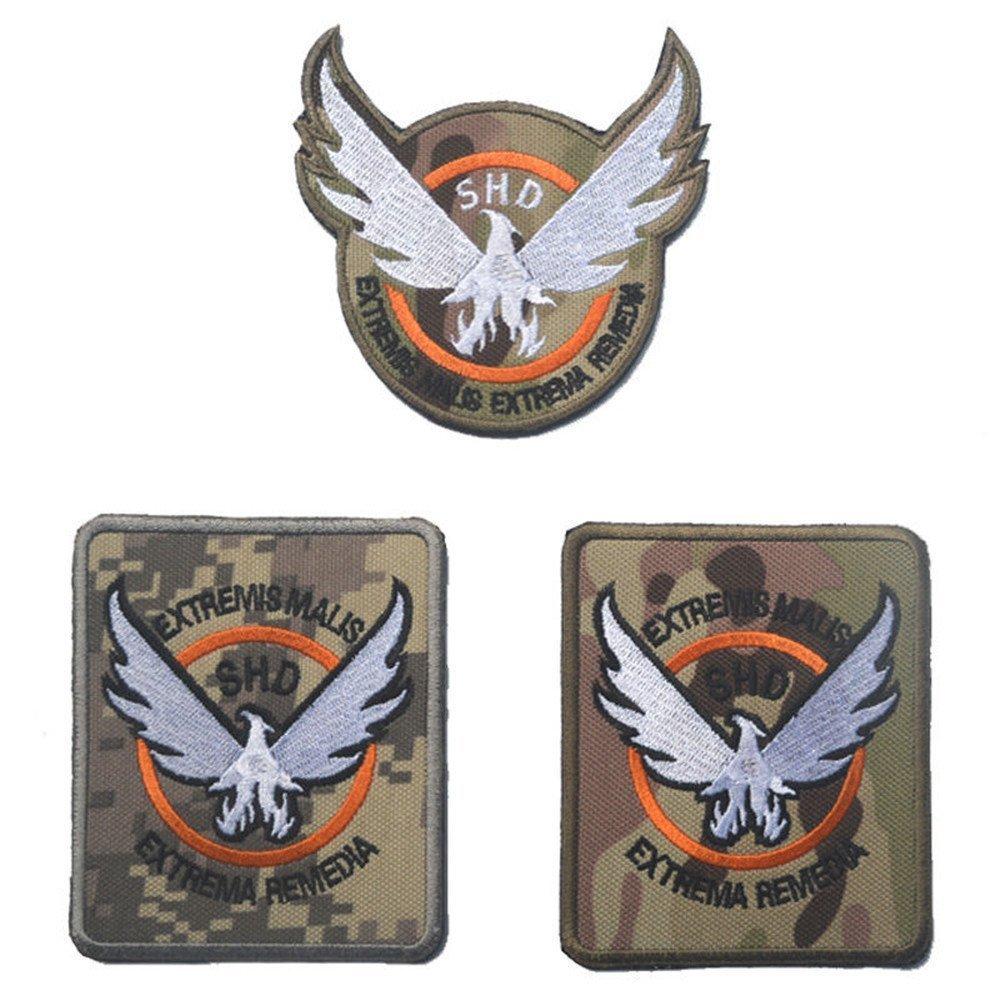 KingNew Parches de juego de goma para la divisi/ón SHD Wings Out Badge Morale PVC Airsoft Patch