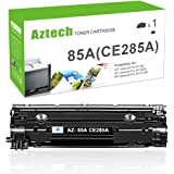 AZTECH 1 Pack 1,600 Pages Black Compatible Toner Cartridge Replaces HP 85A CE285A CE285 Used For HP LaserJet Pro P1102 P1102W P1100 M1212NF M1217NFW MF3010 M1210 M1132 Printer