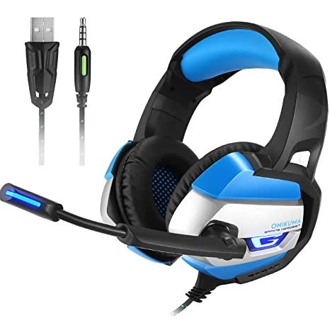 PS4 Gaming Headset con micrófono, onikuma K5 3,5 mm estéreo PC Gaming Auriculares