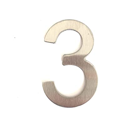 Número para casas (acero inoxidable adhesiva, altura 7.5 cm, Número de casa, número de puerta Design