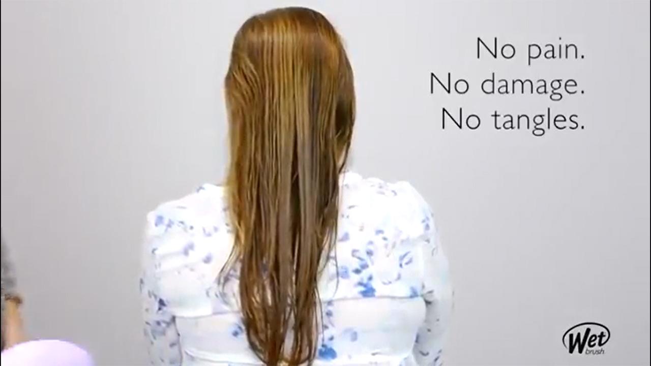 Wet Brush Hair Brush Bridal Mini Detangler, Bride Squad Print, Mini Detangler Brush for Women, Smaller, Cuter and Perfect for Life on the Go, Protects Against Split Ends and Breakage