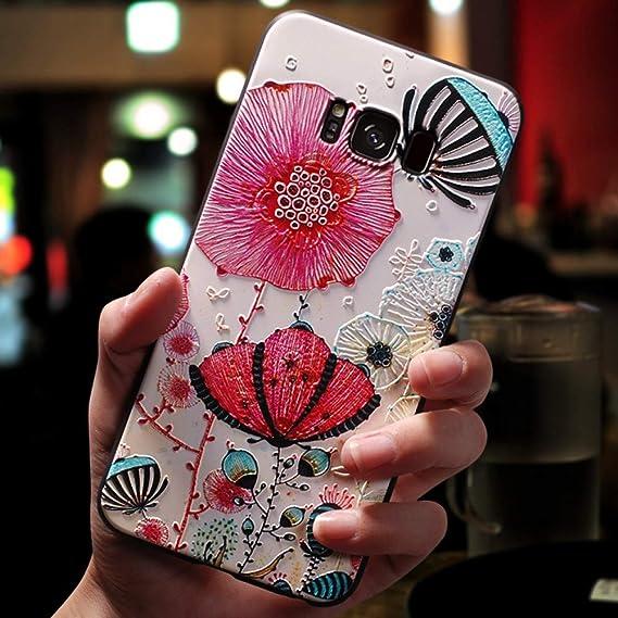 Amazon.com: KCHHA Phone case 3D Flower Emboss Case for ...