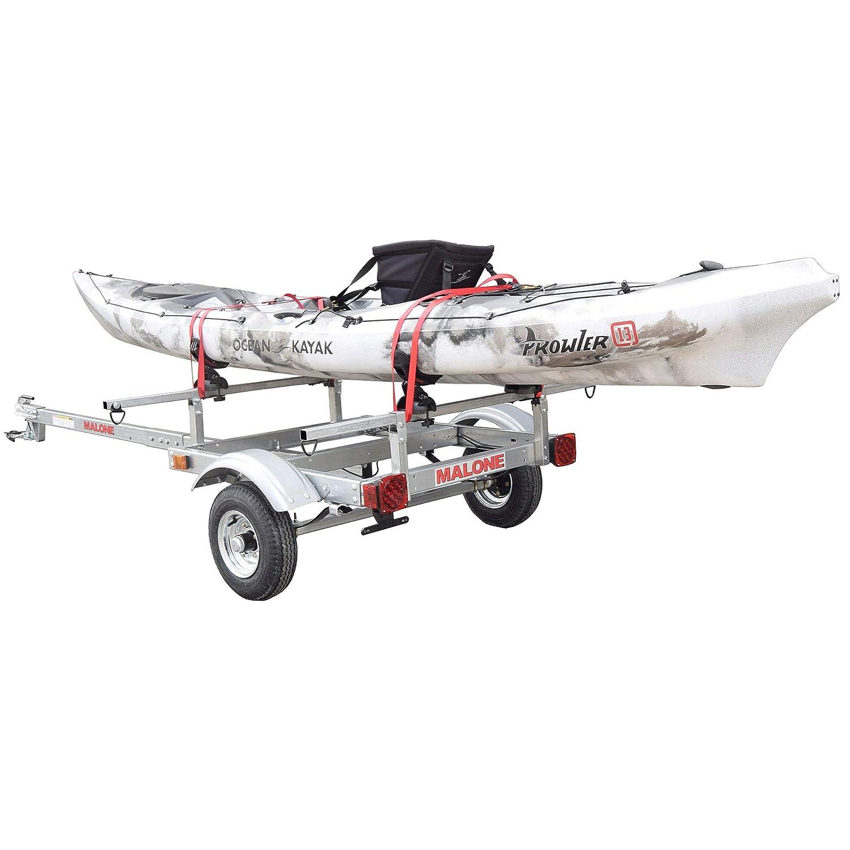 Malone XTRALIGHT Trailer Package w// 1 Saddle UP Kayak Rack