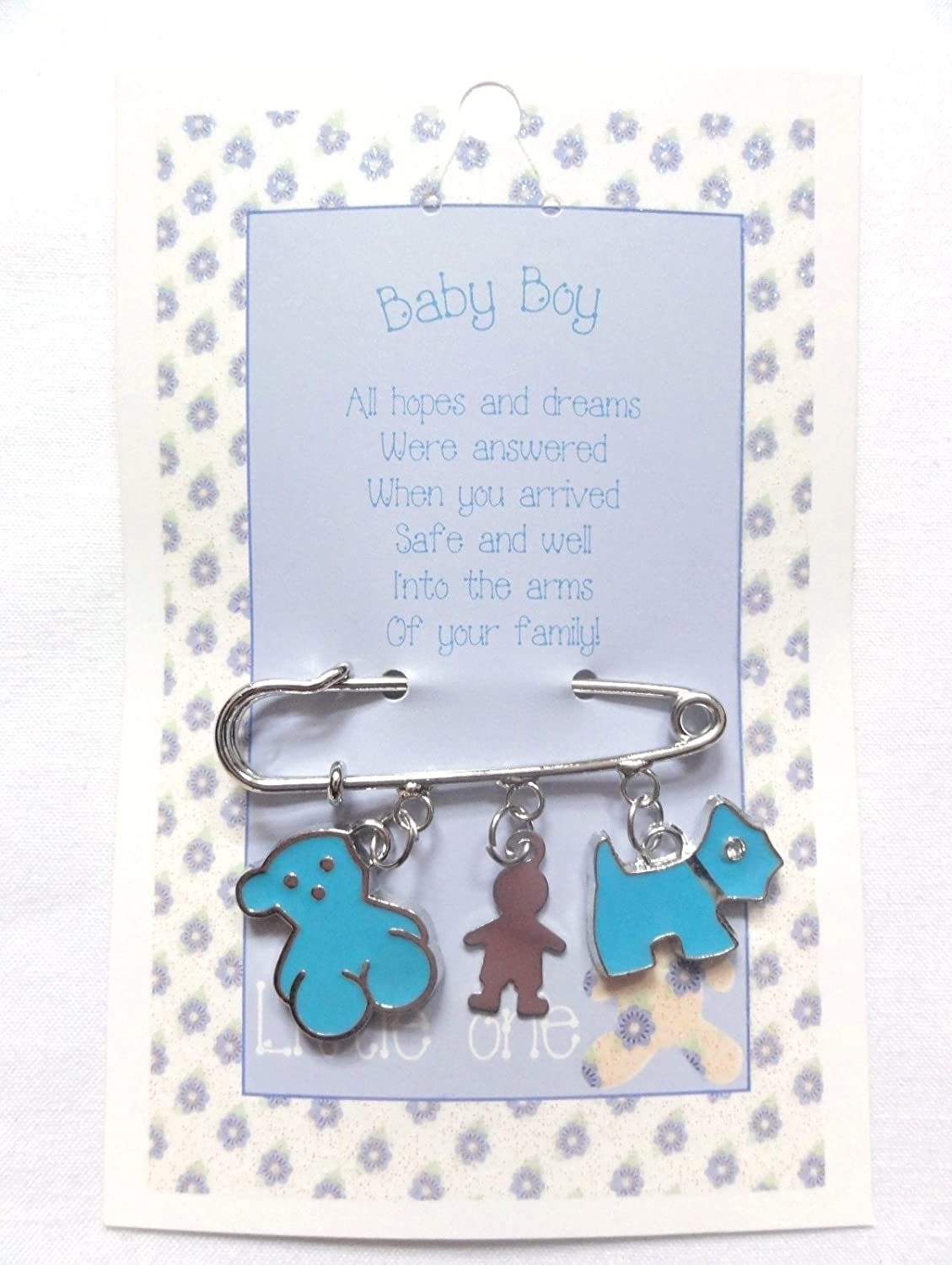 Willow Company Lucky Baby Nappy Pin Pram Hanger Charm - Boy
