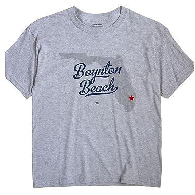 Boynton Beach Florida Map.Amazon Com Boynton Beach Florida Fl Map Greatcitees Unisex Souvenir