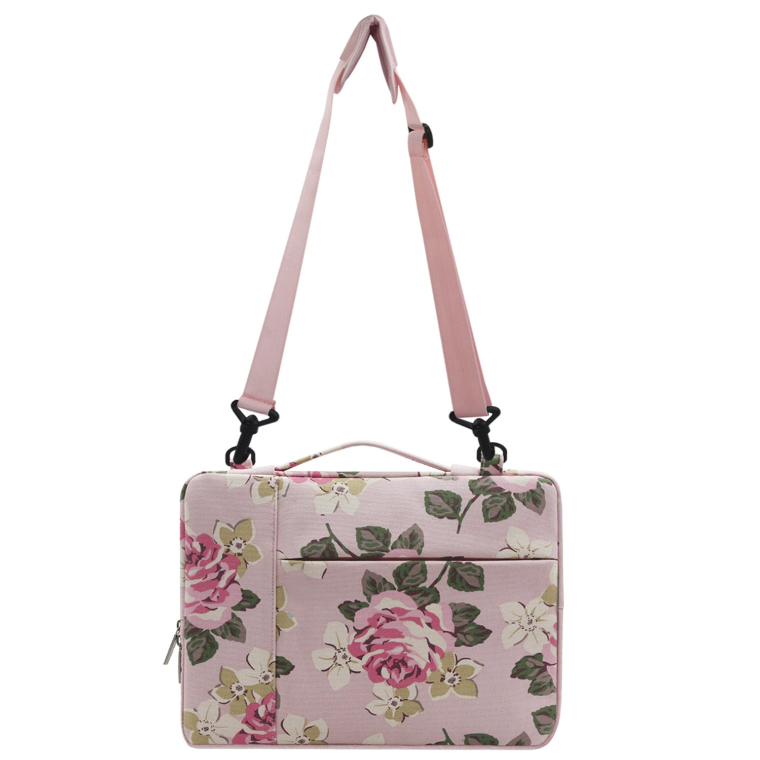 Mosiso Rose Multifunctional Shoulder Bag for 11.6-13 inch MacBook Air, 2018/2017/2016 MacBook Pro A1989/A1706/A1708, New Surface Pro 2017, Surface Pro 4/3, Canvas Laptop Messenger Case Sleeve, Dark Blue