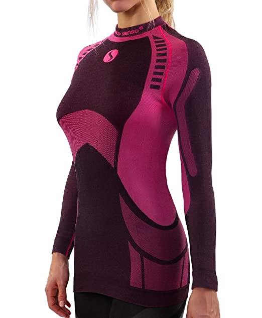 7f0be05ce7 Sesto Senso® Camiseta Térmica Mujer Ropa Interior de Compresión Manga Larga  Camisa Funcional Termo Activo  Amazon.es  Ropa y accesorios