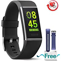 MorePro X-Core Fitness Tracker HR, Waterproof Color Screen Activity Tracker Heart Rate Blood Pressure Monitor, Smart Wristband Pedometer Watch Step Calories Counter