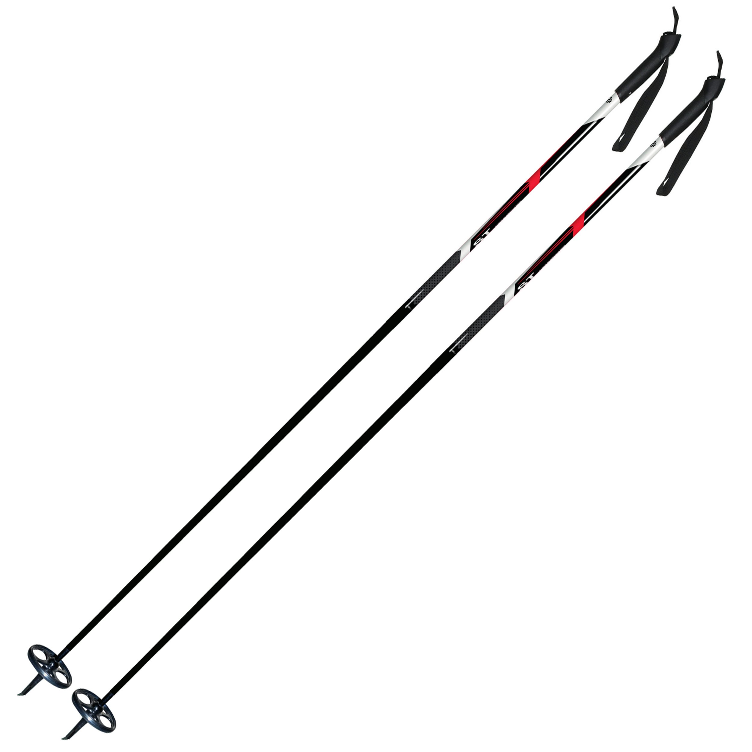 Alpina Sports ASC-ST Snowflake Cross-Country Nordic Ski Poles with Round Baskets, 155cm, Pr. by Alpina